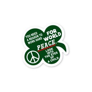 座右の銘 ステッカー (どうして世界が平和でなければいけないのか?答えは子供の瞳の中に)Mサイズ PC タブレット