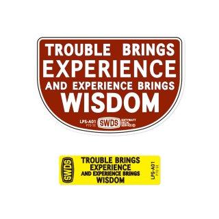 コトワザ2P シートステッカー | 苦労が経験をもたらし、経験が知恵をもたらす