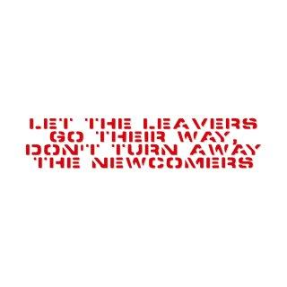去る者は追わず、来る者は拒まず | コトワザ ステンシル 転写ステッカー | PST002