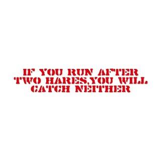 二兎追う者は一兎をも得ず | コトワザ ステンシル 転写ステッカー | PST004