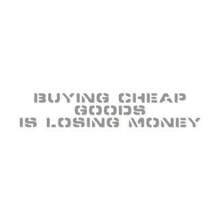安物買いの銭失い  | コトワザ ステンシル 転写ステッカー | PST007
