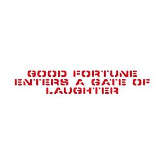 笑う門には福来る | コトワザ ステンシル 転写ステッカー | PST014