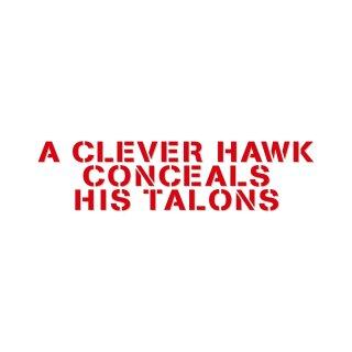 能ある鷹は爪隠す  | コトワザ ステンシル 転写ステッカー | PST023