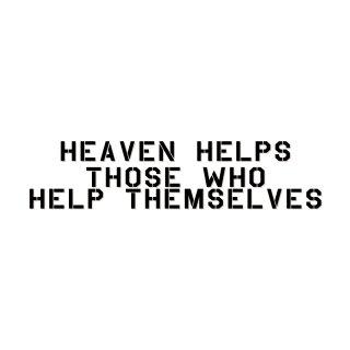 天は自ら助くものを助く  | コトワザ ステンシル 転写ステッカー | PST024