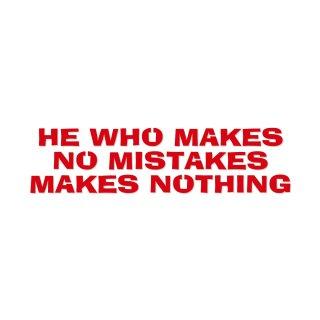 失敗しない者は何も出来ない  | コトワザ ステンシル 転写ステッカー | PST031