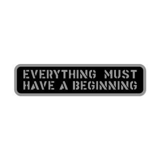 何事もまず始めなければならぬ  | コトワザ ステンシル 転写ステッカー | PST034