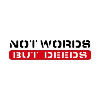 言葉ではなく行為   | コトワザ ステンシル 転写ステッカー | PST035