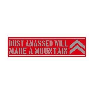 塵も積もれば山となる| コトワザ ステンシル 転写ステッカー | PST046