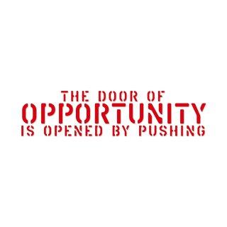 チャンスの扉は押すことによって開く| コトワザ ステンシル 転写ステッカー | PST050