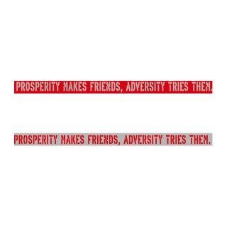 繁栄は友を作り、逆境は友を試す| コトワザ ステンシル 転写ステッカー | PST058