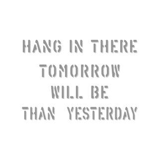 がんばれ!明日はもっといい日になるよ! |  コトワザ ステンシル 転写ステッカー スクエア | STD400−5