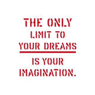 あなたにその気があれば夢に限界なんて生まれない|  コトワザ ステンシル 転写ステッカー スクエア | STD400−6