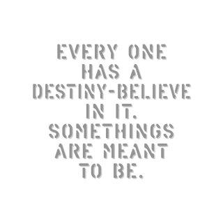 運命の存在を信じよう そうなると決められている事もあるんだよ|  コトワザ ステンシル 転写ステッカー スクエア | STD400−7