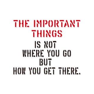 大切なのはどこに行くかではなくて どうやって行くか|  コトワザ ステンシル 転写ステッカー スクエア | STD400−8
