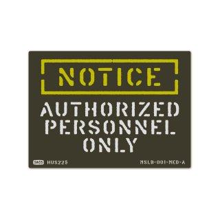 ミリタリー ステンシル デザイン サイン&ラベルズ(通知;許可のある者のみ)|  MSLB-001-MED-A