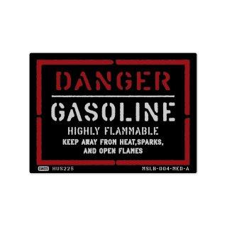 ミリタリー ステンシル デザイン サイン&ラベルズ(危険;ガソリン)|  MSLB-004-MED-A