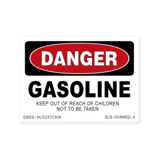 サイン&ラベルズ(危険;ガソリン)A|  ミディアム サイズ
