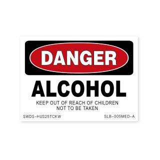 サイン&ラベルズ(危険;アルコール)A|  ミディアム サイズ