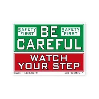 サイン&ラベルズ(安全第一;注意して下さい・足元をよく見て)A|  ミディアム サイズ
