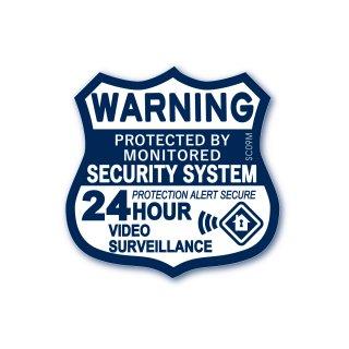 セキュリティーラベル(警告;24時間ビデオ監視)|  ミディアム サイズ