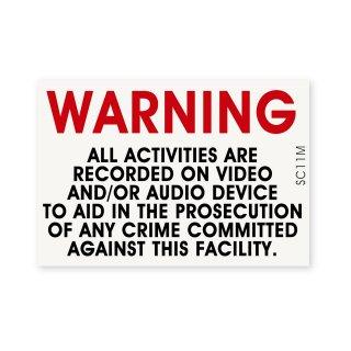セキュリティーラベル(警告;全ての行動は記録されています)|  ミディアム サイズ