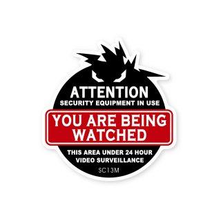 セキュリティーラベル(注意;あなたは監視されています)|  ミディアム サイズ
