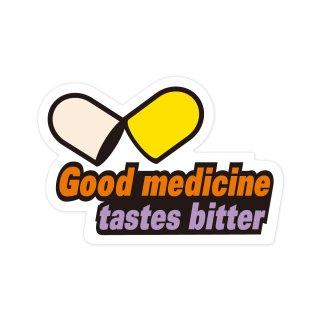 良薬口に苦し | コトワザステッカー PS013