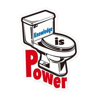 知識は力である | コトワザステッカー PS037