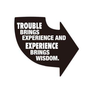 苦労が経験をもたらし経験が知恵をもたらす | コトワザステッカー PS043