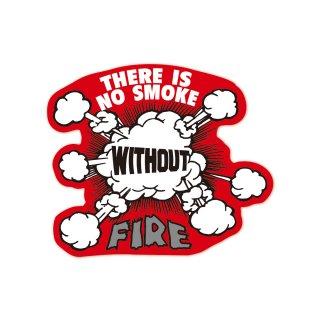 火のない所に煙は立たぬ | コトワザステッカー PS049