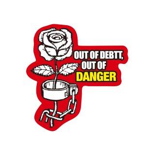 借金がなければ危険なし| コトワザステッカー PS136