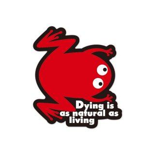 死ぬ事は生きる事と同様に自然の理である   コトワザステッカー PS142