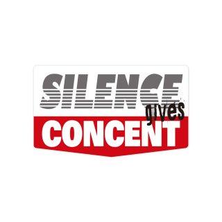 沈黙は承諾を与える  コトワザステッカー PS155