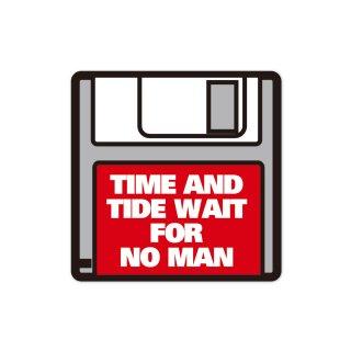 時間は誰も待ってくれない  | コトワザステッカー PS053