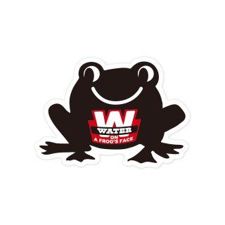 蛙の面に水| コトワザステッカー PS206