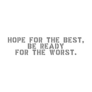 最善を願い、最悪に備えよ | コトワザ ステンシル 転写ステッカー | PST065