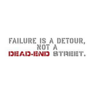 失敗は回り道。行き止まりの道ではない。| コトワザ ステンシル 転写ステッカー | PST070