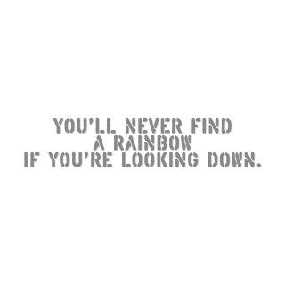 下を向いていたら、虹を見つけることは出来ないよ。| コトワザ ステンシル 転写ステッカー | PST073