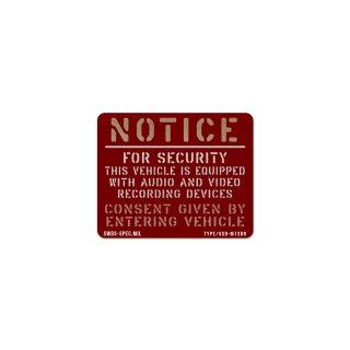 ミリタリー セキュリティー ステッカー | VEHICLE SECULITY -M-13DR