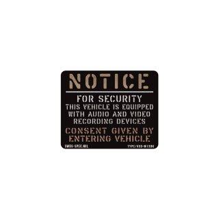ミリタリー セキュリティー ステッカー | VEHICLE SECULITY -M-13BK