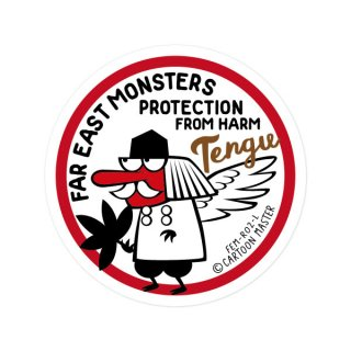 FAR EAST MONSTERS ステッカー/ TENGU FEM-R02-L / CARTOON MATER