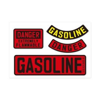 サイン&ラベルズ|危険:ガソリン|4P-カスタムセット