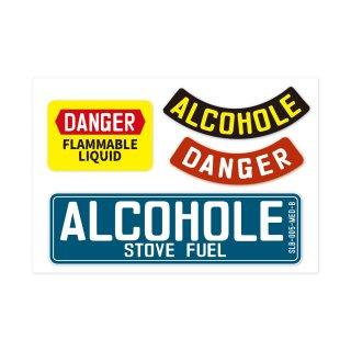 サイン&ラベルズ|危険:アルコール|4P-カスタムセット
