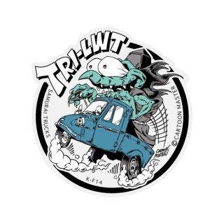 SAMURAI TRUCKS K-FUNK ステッカー/ TRI-LWT | ST-KF-14/ CARTOON MASTER