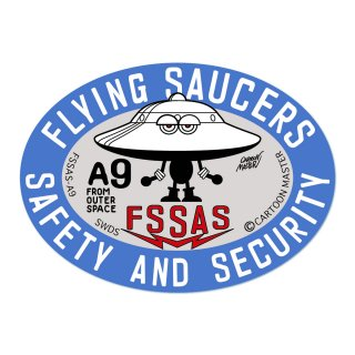 FLYING SAUCERS SAFETY AND SECURITY ステッカー/ A9/ CARTOON MASTER