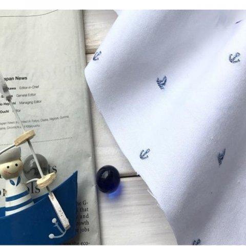 カットジャカードオックス ヨットとイカリ