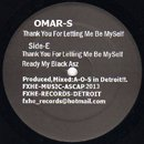 Omar S / Thank You For Letting Me Be Myself Part 2 (2LP)