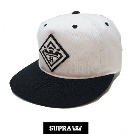【SUPRA / スープラ】 STENCIL PATCH SLIDER CAP 【白】