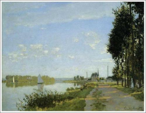 モネ「アルジャントゥイユの散歩道」