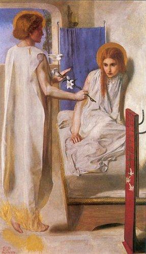 ロセッティ【受胎告知】 - 絵画(油画複製画)販売 アート名画館